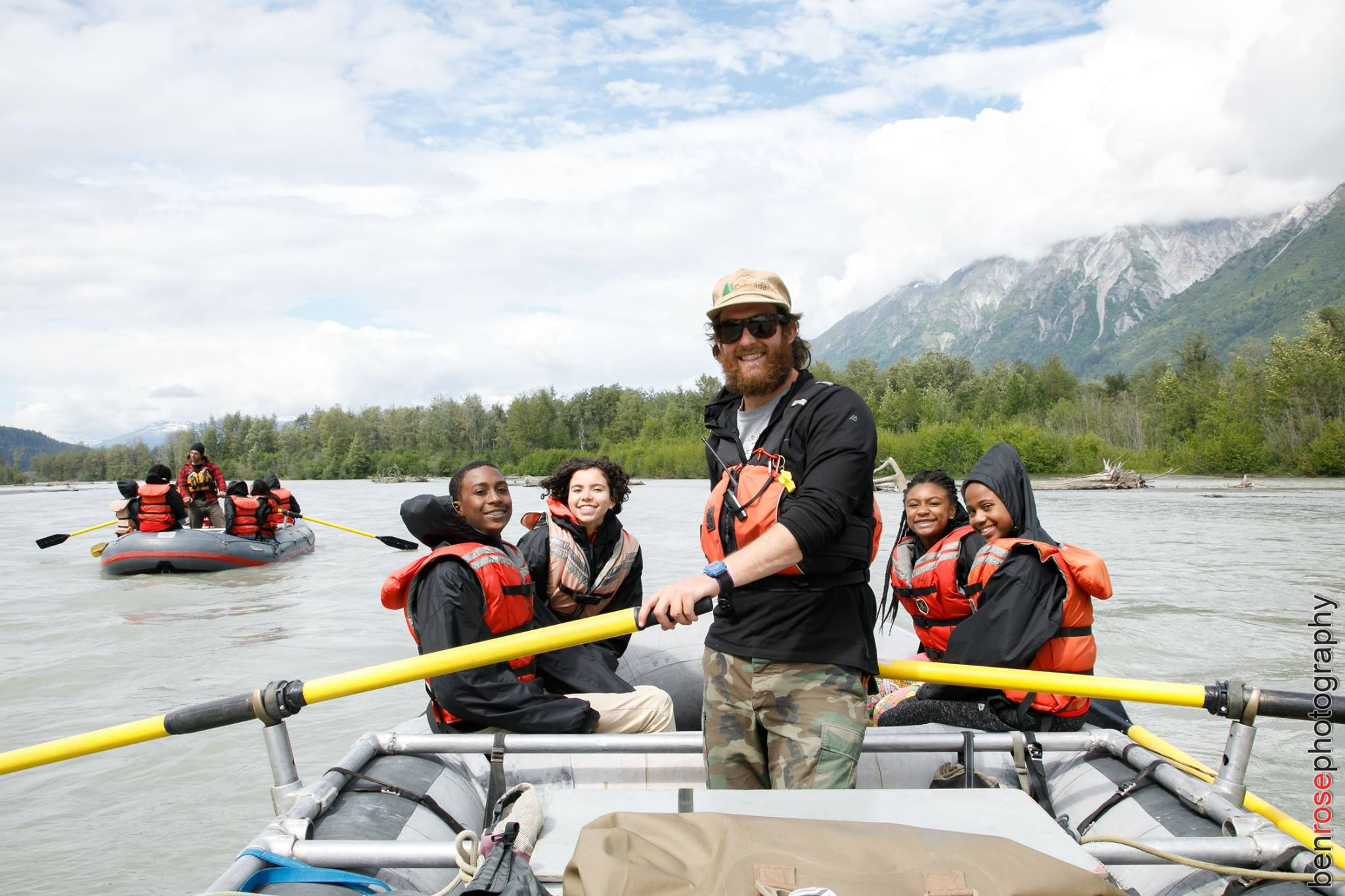 Scouts enjoy a rafting trip on the Chilkat River - Ben Rose Photography
