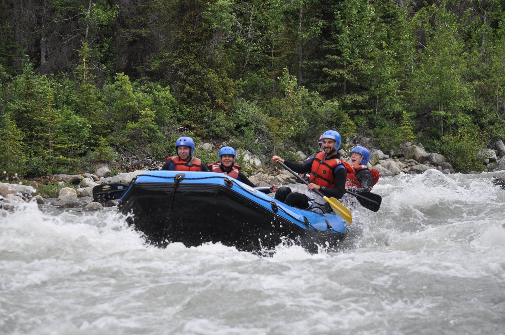 Exciting rapids await on the Blanchard River
