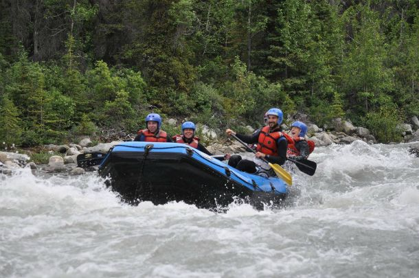 Scouts navigate exciting rapids on the Blanchard River